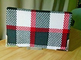Shiraleah Chicago Britney Fold Flat Clutch Plaid Tartan Wool Blend - $8.90