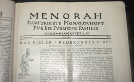 Illustrated Monthly for the Jewish Home MENORAH 1925 12 Issues Hard Binding  image 9