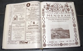 Illustrated Monthly for the Jewish Home MENORAH 1925 12 Issues Hard Binding  image 10