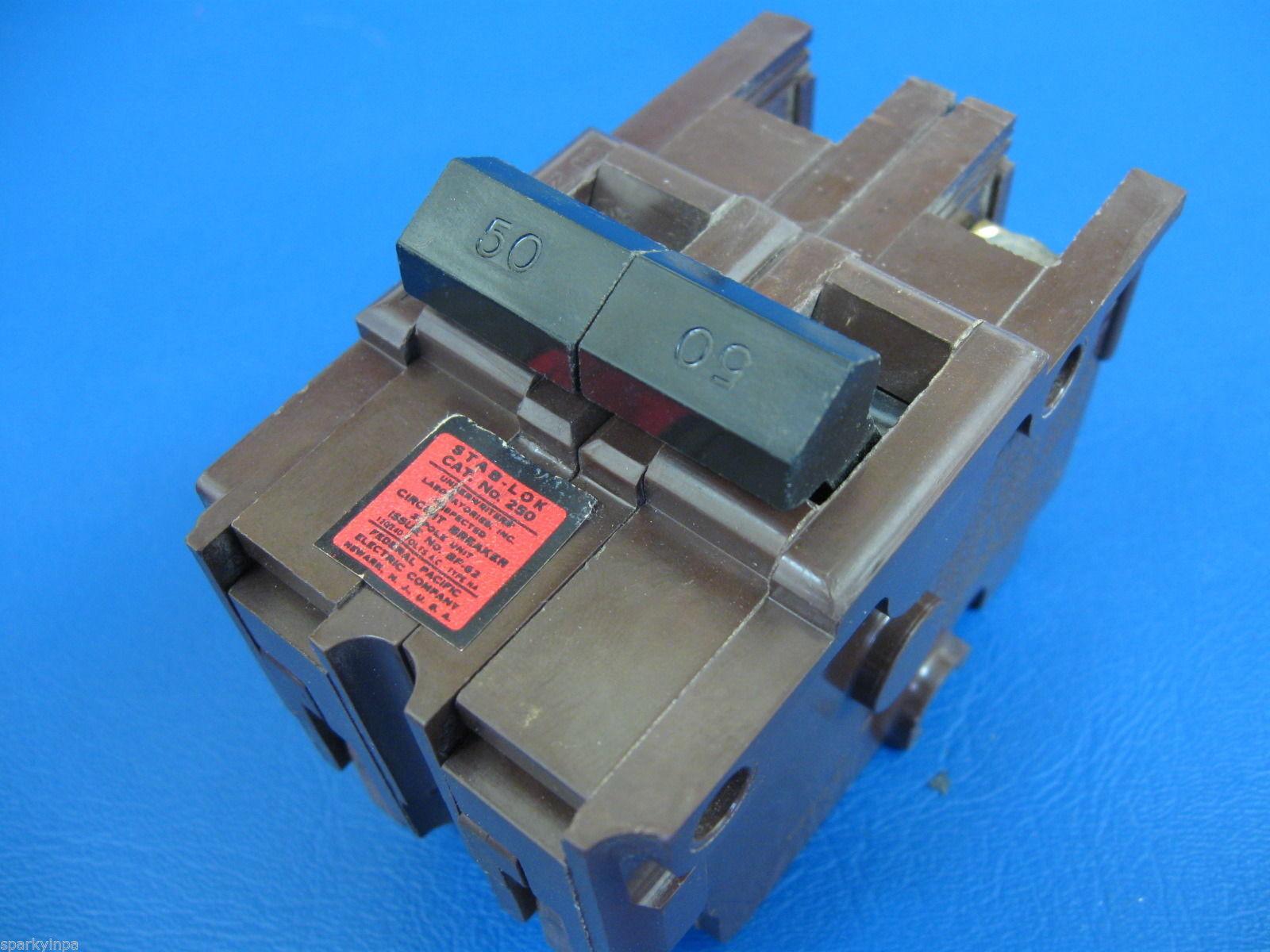 Vintage STAB-LOK CIRCUIT BREAKERS 15A 30A 40A 50A 60A