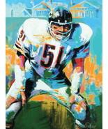 Richard Marvin Dick Butkus Chicago Bears Painting 24x18 Print Poster - $9.95