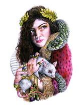 Lorde Painting Art Indie Pop Singer Music 24x18... - $9.95