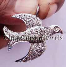 !!Vintage Style flying Bird!! 0.65 Ctw Rose Cut Diamond Sterling Silver ... - $145.02