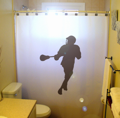Lacrosse player shower curtain 1  65