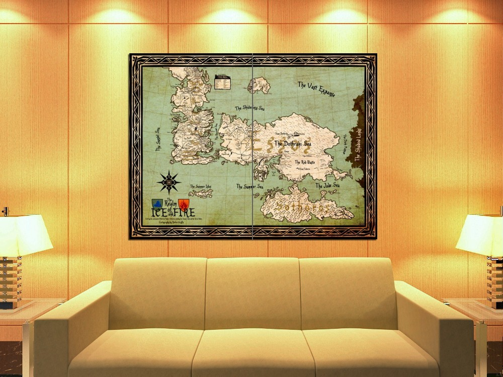 World Map Westeros Essos Game of Thrones HUGE GIANT Print POSTER for sale  USA