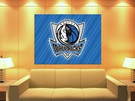 Dallas Mavericks Logo Basketball Sport Art HUGE... - $26.95