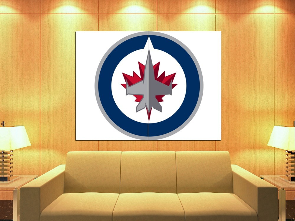 Winnipeg Jets Logo Hockey Sport Art HUGE GIANT Print