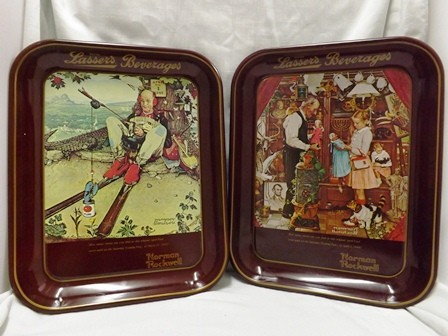 "Two Norman Rockwell Limited Edition 1976/1977 ""April Fool's Day"" Collectors Tray"