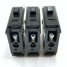 Lot Of 3 Eaton Quicklag QBHW1020 1P 20 Amp 120-240V Circuit Breaker - $13.06