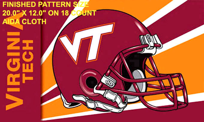 Virginia Tech Hokies Helmet Cross Stitch Pattern***L@@K***