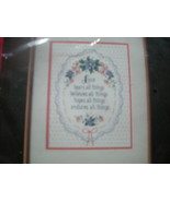 DIMENSIONS COUNTED CROSS STITCH KIT.  LOVE ENDURES. NEW. - $12.99