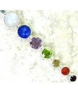 MoonStone Sapphire Ruby Amethyst et al Sterling Silver Walking Stick Pen... - $111.00