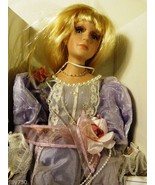 "Duck House Heirloom Dolls Victorian 18"" Porcelain Doll Kristen In Lavend... - $39.98"