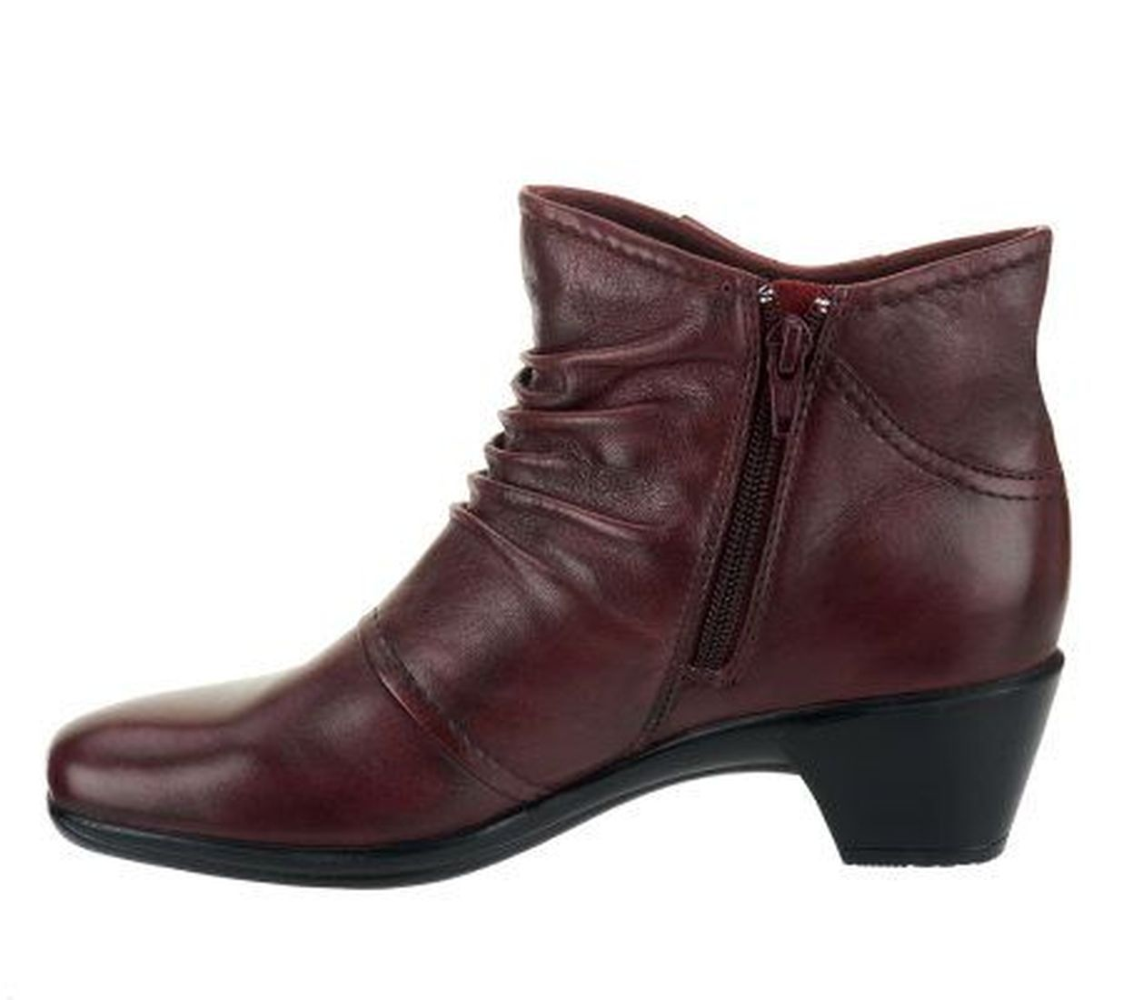 earth origins mallory leather ankle boots button accents