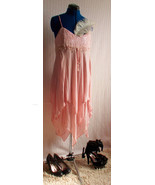Whistles Vintage Pink Sparkly Beaded Gatsby Style dress Size Uk 14. Char... - $45.00