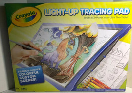 Crayola Light-Up Tracing Pad Coloring Board Kids Blue LED Power Ultra Th... - $36.95