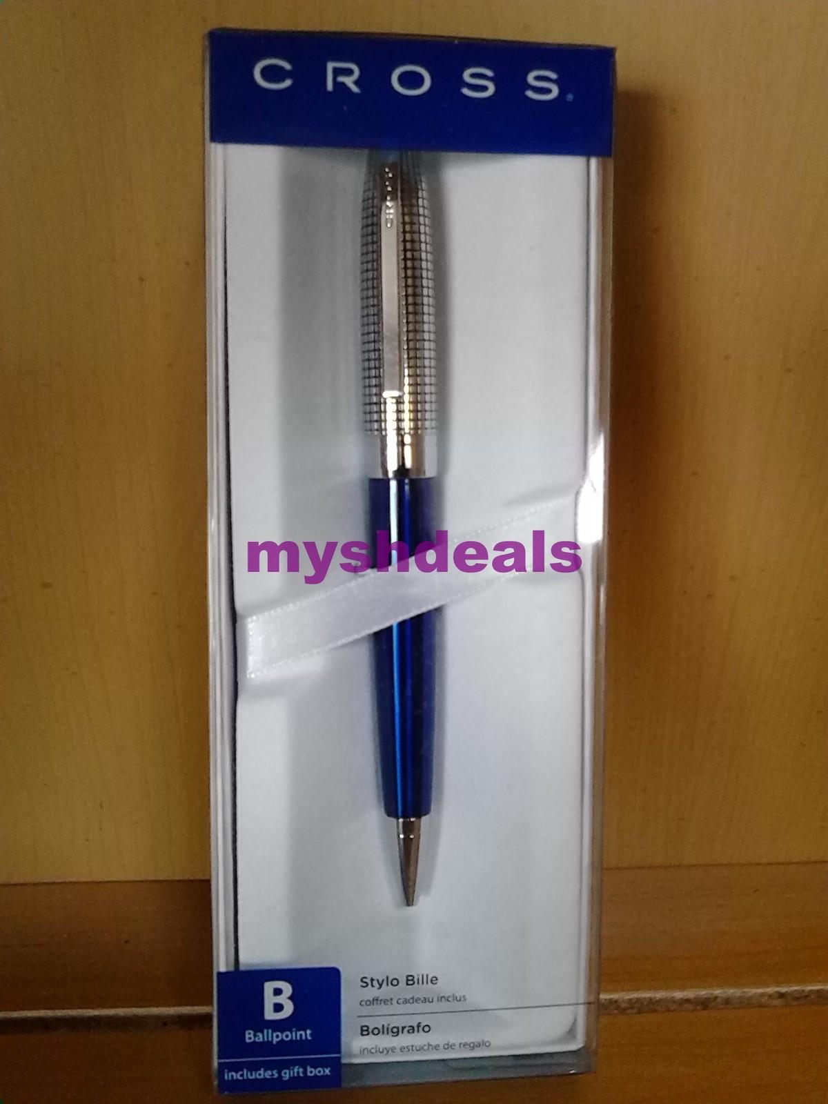 New Cross Revere Midnight Blue / Chrome Ballpoint Pen - $24.95