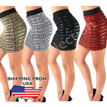 Sequin BodyCon Panel Party Mini Sequin Skirt Sexy Bandage Glitter , Skirt Party  - $29.99