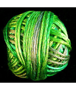 Neon Greens (1079) Silk Floss 100% silk 23yd ball cross stitch Valdani  - $5.50