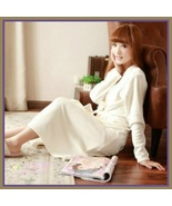 Long Luxury Soft Velvet Coral Fleece Belted Spa Lounger Bathrobe With Po... - $69.95
