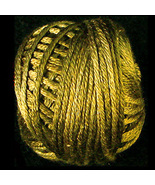 Golden Moss (S153) Silk Floss 100% silk 23yd ba... - $5.50