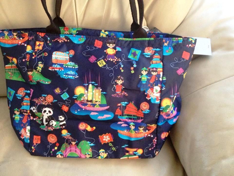 Primary image for Lesportsac Disney IASW Hong Kong Day & Night Small EveryGirl Tote~ LE