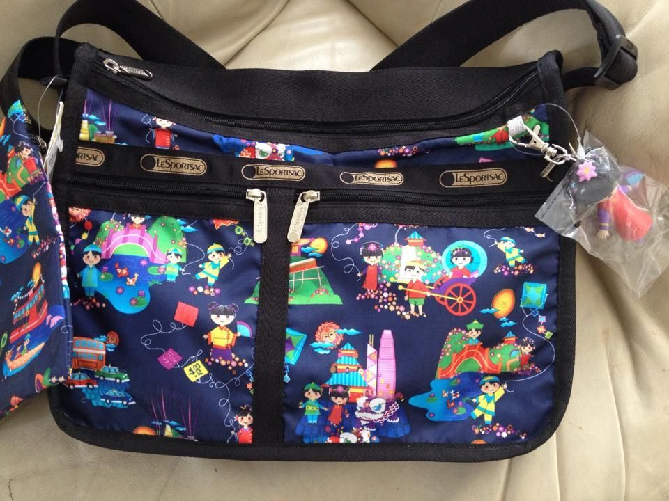 Primary image for Lesportsac Disney IASW Hong Kong Day & Night Everyday Deluxe ~ LE