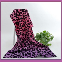 Large Pink Purple Leopard Hotel Size Terry Bath Beach Towel
