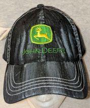 John Deere LP49279 Adjustable Black Stone Wash Denim Leaping Deer Logo image 3