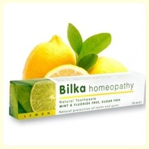 Bilka Homeopathy Natural Toothpaste With Lemon Mint & Fluoride Free Suga... - $4.99