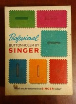 Vintage Professional Buttonholer Kit By Singer 1970 Complete in Box - $19.34