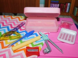 Our Generation Doll School Accessories Lot pencil case loaded fits American Girl - $18.80