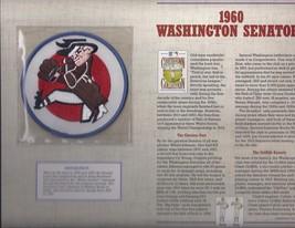 1960 Washington Senators  Cooperstone Collection Baseball Patch & Stat S... - $7.95