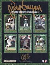TONY GWYNN Limited Edition Promo Sheet Baseball Cards - $9.95