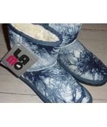 LAMO Wave Runner LEATHER SHEARLING Short Boot Bootie NAVY BLUE sz 7 - $67.29