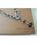 Silpada Sterling Link & Citrine Smokey Quartz Necklace N1454 Retired - $87.22