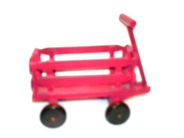 "Boyds Bears Accessory  ""Huck's Red Wagon"" 8"" Wooden Wagon- NIB-2002- Retired - $15.99"