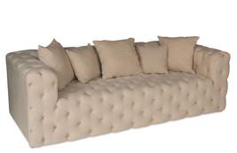 Fabulous Chic Shabby Tufted Pine Wood Linen/cotton Sofa,91'' x 38'' x 29''h - €2.153,48 EUR