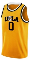 Russell Westbrook #0 College Basketball Custom Jersey Sewn Gold Any Size image 1