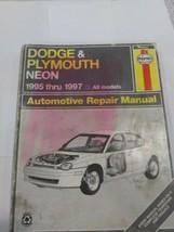 Dodge Plymouth Neon 1995-1997 all models Haynes 30034 Repair Manual - $11.65