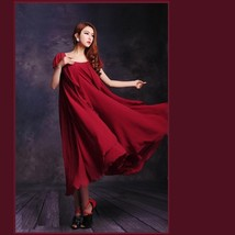 Burgundy Green or Black Chiffon Layered Expansion Maternity Maxi Dress w/ Belt