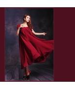 Burgundy Green or Black Chiffon Layered Expansion Maternity Maxi Dress w... - $52.95