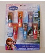 Disney Frozen Glitter Lip Gloss 6 Piece Fruity Flavors Anna Elsa Olaf Kr... - $9.89