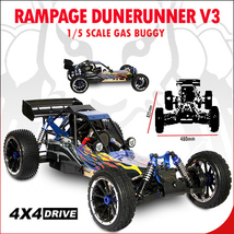 REDCAT RACING RAMPAGE DUNERUNNER 1/5 SCALE GASOLINE DUNE BUGGY 4X4 FREE ... - $649.99