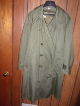 1953 US Army Overcoat With Liner and Belt Great Condition Korean War Era - $75.00