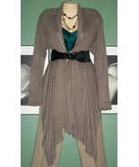 H&M HIGH/ LOW Soft Taupe Wrap Front Cardigan Sweater - $12.99