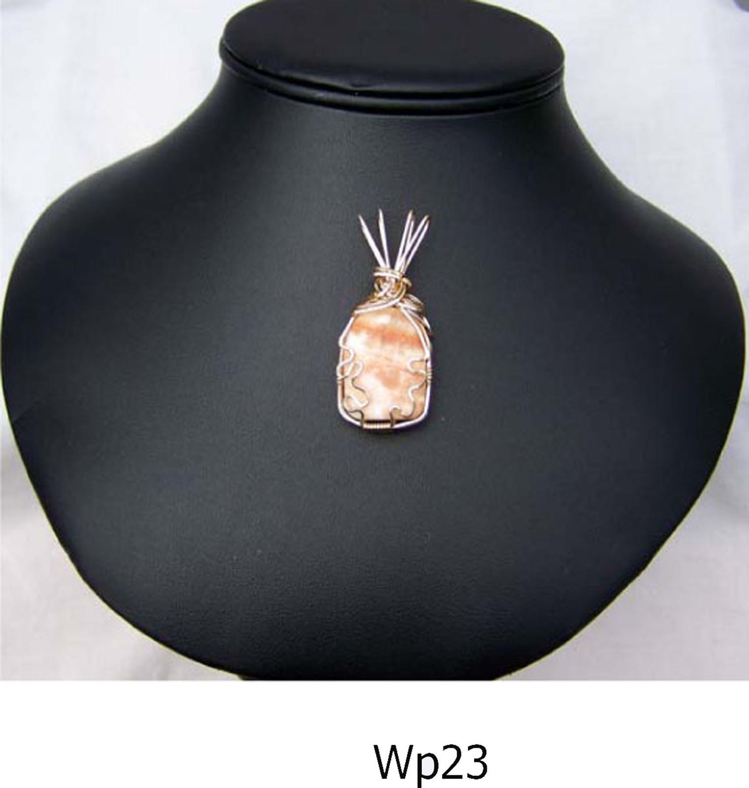 14Kt GF Wire Wrap Pendant w Dolomite (WP23)