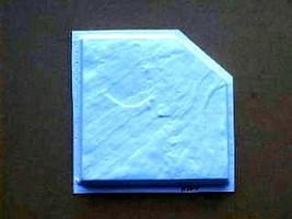 """Slate Texture Tile Molds (6) Make 100s 12"""" Dot Cut Concrete Floor Tile $0.30 EA image 2"""