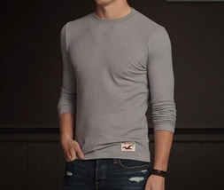 Hollister Fletcher Cove Crew Men's Shirt size Medium MED M NEW Gray Long Sleeve - $24.99