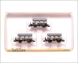 TRIX MINITRIX N 15135 - Bavarian K.Bay.Sts.B. Gas Tank Cars - $239.50
